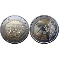 2 евро 2012 год. Мальта. Совет большинства 1887 года