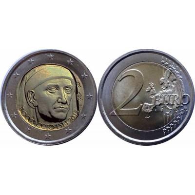 2 евро 2013 год. Италия. 700 лет со дня рождения Джованни Боккаччо.