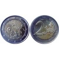 2 евро 2013 год. Финляндия. 150 лет Парламенту Финляндии.