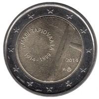 2 евро 2014 год. Финляндия. 100 лет со дня рождения Илмари Топиоваара.