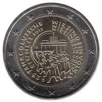 2 евро 2015 год. Германия. 25 лет воссоединения Германии. (J - Гамбург)