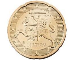 20 евроцентов 2015 год. Литва.