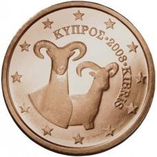 1 Евроцент 2008 год. Кипр