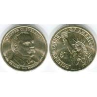 1 доллар 2012 год. США. Гровер Кливленд 24-й президент (D)