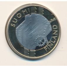 5 евро 2011 год. Финляндия. Губерния Уусимаа