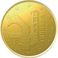 50 Евроцентов 2014 год. Андорра