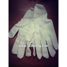 Перчатки нумизматические из нейлона. Производство Россия