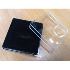 Футляр пластиковый (58х58х22 мм) для одной монеты в капсуле (диаметр 46 мм), чёрный.