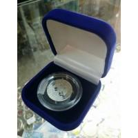 Футляр для одной монеты в капсуле (диаметр 44 мм), размер 65х65х44 мм, бордо