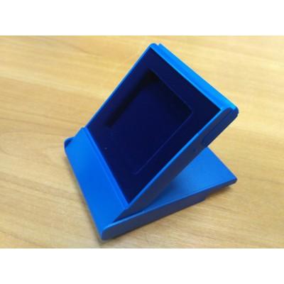 Футляр пластиковый (79х106х16 мм) для монеты в капсуле Quadrum (50х50х6 мм), синий