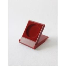 Футляр пластиковый (79х106х16 мм) для одной монеты в капсуле (диаметр 58 мм), бордо