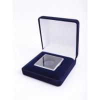 Футляр (92х92х40 мм) для монеты в капсуле Quadrum (50х50х6 мм), синий