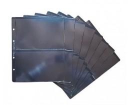 Лист для бон 200х250 мм на чёрной основе на 2 боны 180х120 мм, формат Optima (двухсторонний)