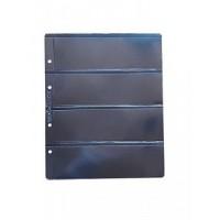 Лист для бон 200х250 мм на чёрной основе на 4 боны 180х56 мм, формат Optima (двухсторонний)