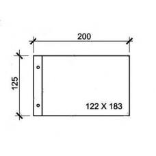 Лист горизонтальный для бон, открыток и конвертов 200х125 на 1 ячейку 180х120 мм