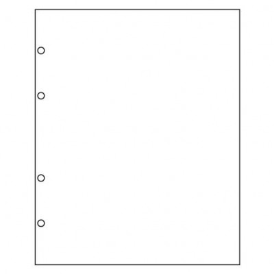 Лист разделительный БЕЛЫЙ, глянцевый пластик, 200х250 мм, Оптима
