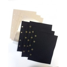 Комплект листов в альбом для значков (5ткань+5картон+5промежут.), формат Оптима