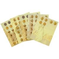 Комплект разделителей для юбилейных долларов США серии Президентны, Сакагавея, Сьюзен Энтони, без листов