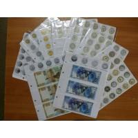Комплект картонных разделителей для всех юбилейных монет и банкнот России