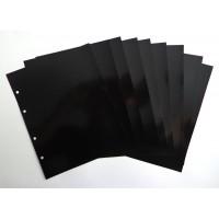 Лист разделительный черный, пластик, 200х250 мм, Оптима