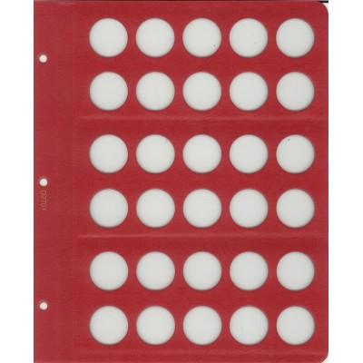 """Универсальный лист для биметаллических монет диаметром 27 мм, в серии """"КоллекционерЪ"""""""