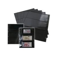 Лист двухсторонний для открыток, фото и бон 245х310мм на 3 ячейки на черной основе (формат Grand )