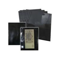 Лист для банкнот двухсторонний 240х310 мм на 1 ячейку на черной основе (формат Grand)
