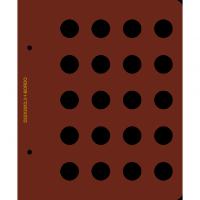 Лист для монет диаметром 22 мм (20 ячеек)