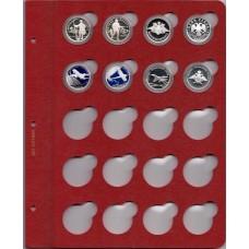 """Лист для монет в капсулах диаметром 31 мм (красный) в серии """"КоллекционерЪ"""""""