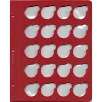 """Лист для монет в капсулах диаметром 33 мм (красный) в серии """"КоллекционерЪ"""""""