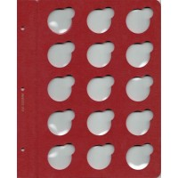 """Лист для монет в капсулах диаметром 35 мм (красный) в серии """"КоллекционерЪ"""""""