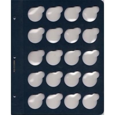 """Лист для монет в капсулах диаметром 33 мм (синий) в серии """"КоллекционерЪ"""""""