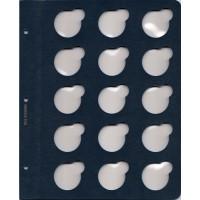 """Лист для монет в капсулах диаметром 35 мм (синий) в серии """"КоллекционерЪ"""""""