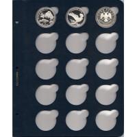 """Лист для монет в капсулах диаметром 43 мм (синий) в серии """"КоллекционерЪ"""""""