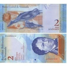 Банкнота Венесуэла 2 боливара 2012 год, пресс