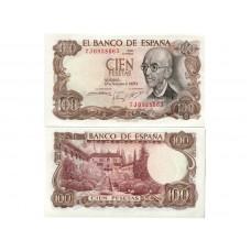 Банкнота Испания 100 песет 1970 год. Пресс