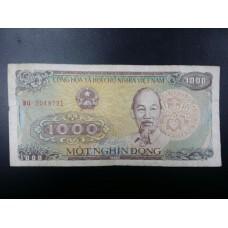 Банкнота Вьетнам 1000 донгов 1988 год.