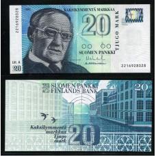 Банкнота Финляндия 20 Марок 1993 год.