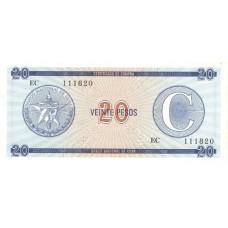 Банкнота Куба 20 Песо. Пресс