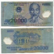 Банкнота Вьетнам 20.000 донгов 2006 год.
