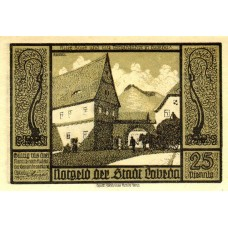 Банкнота Германия 25 пфеннигов 1921 г.