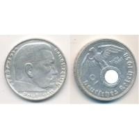 Германия 2 Марки 1938 год. Пауль фон Гинденбург. (D) (свастика)