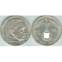 Германия 2 Марки 1937 год. Пауль фон Гинденбург. (A) (свастика)