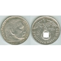 Германия 2 Марки 1937 год. Пауль фон Гинденбург. (D) (свастика)