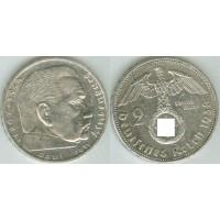 Германия 2 Марки 1938 год. Пауль фон Гинденбург. (А) (свастика)