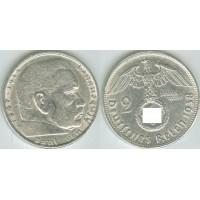 Германия 2 Марки 1938 год. Пауль фон Гинденбург. (В) (свастика)