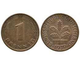 1 пфенниг 1979 год (двор J)