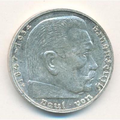Германия 2 Марки 1939 год. Пауль фон Гинденбург. (G) (свастика)