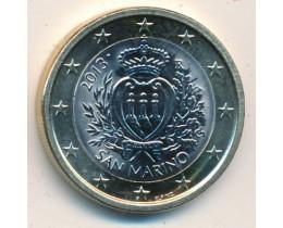 1 евро 2013 год. Сан-Марино