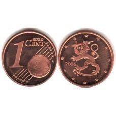 1 евроцент 2006 год. Финляндия